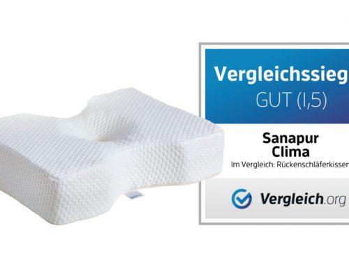 Vergleichssieger bei Rückenschläferkissen – Sanapur Original Kissen CLIMA